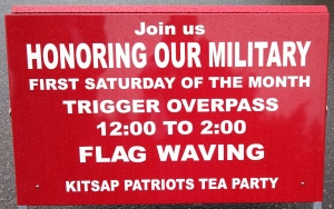 Trigger Flagwaving Sign