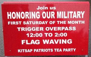 Trigger Flagwaving Sign