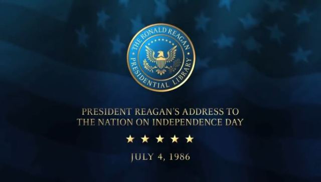 Reagan July 4 1986